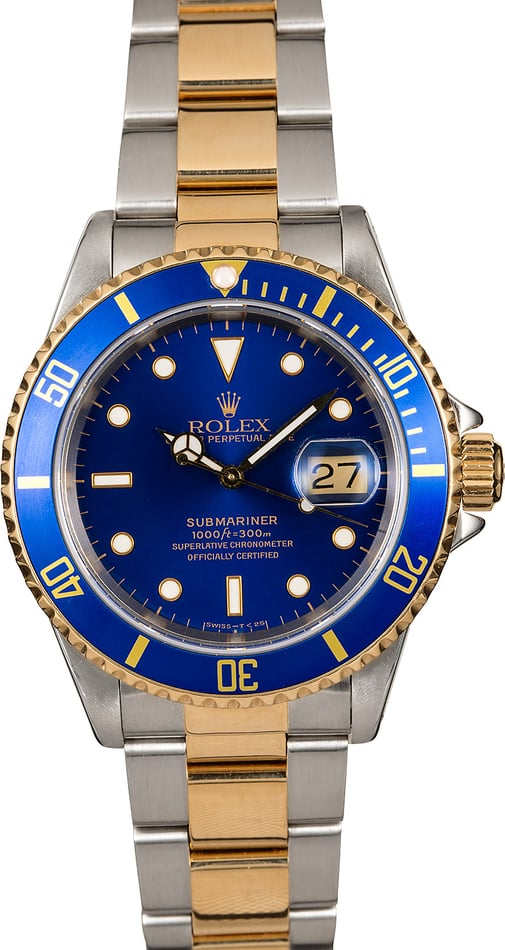 Rolex Submariner 16613 Blue Two-Tone TT