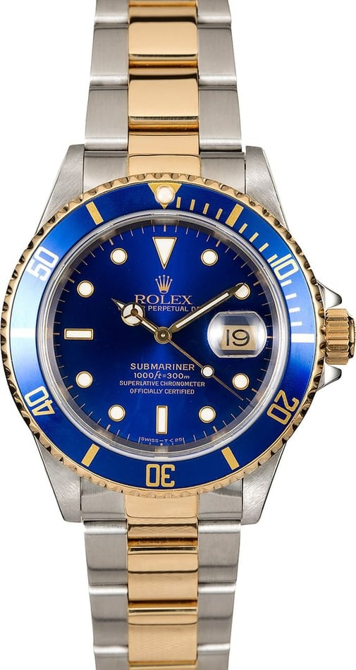PreOwned Rolex Submariner 16613 Two Tone Oyster