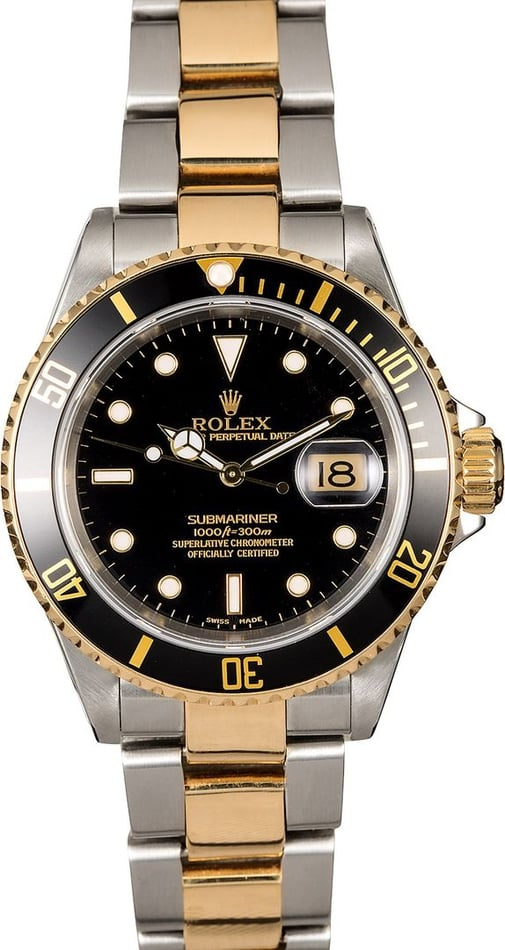 Rolex Submariner 16613 Black Dial Two-Tone Oyster