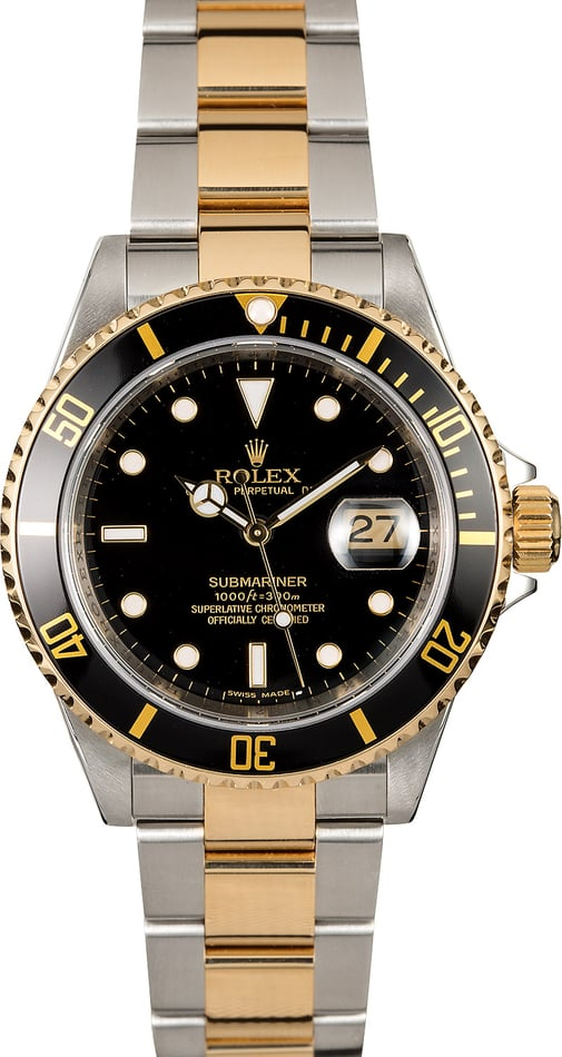 Certified Rolex Submariner 16613 Two-Tone Oyster