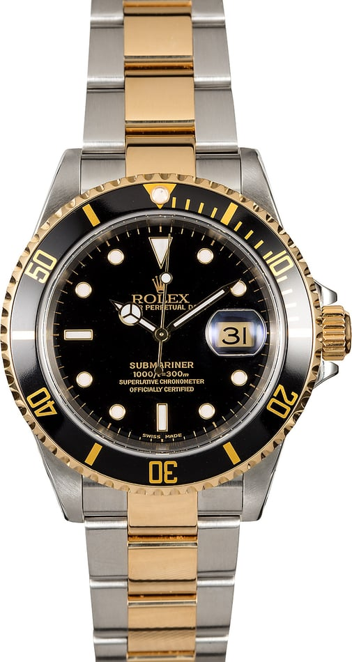 Rolex Submariner 16613 Two Tone Oyster Bracelet