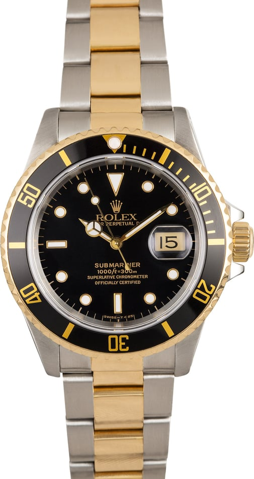 Men's Rolex Submariner Black 16613