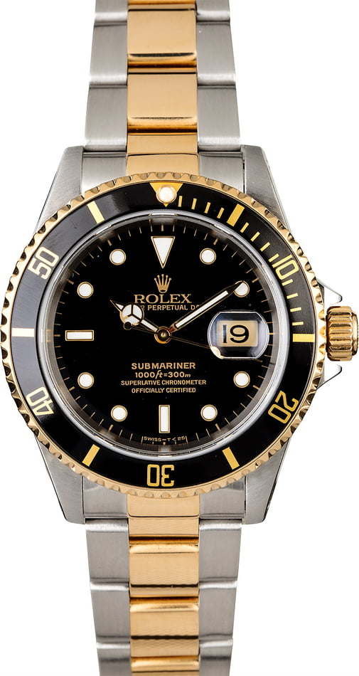 Men's Rolex Submariner 16613 Oyster Perpetual