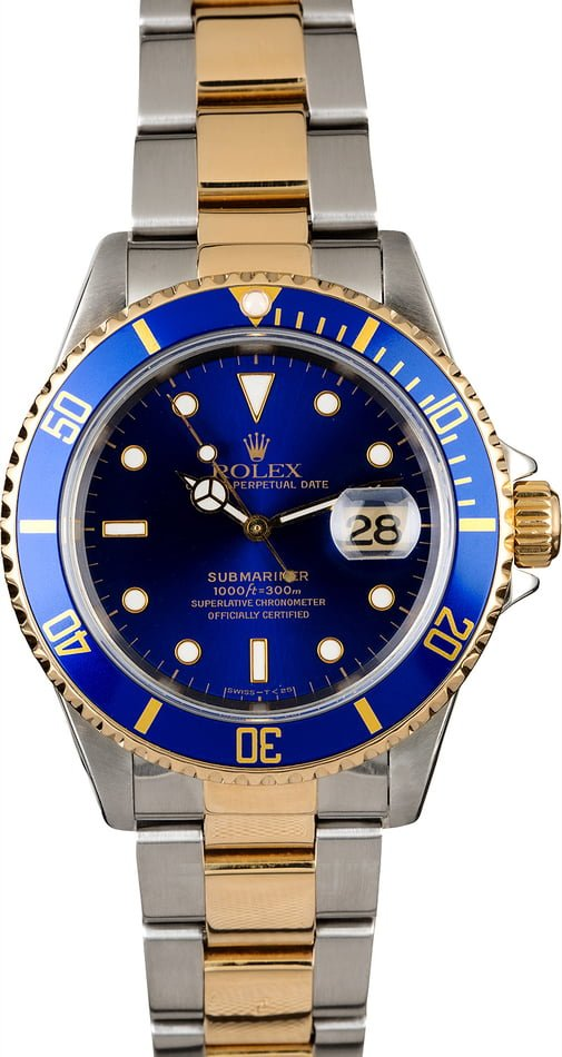 Rolex Submariner 16613 Two Tone Men's Diving Watch