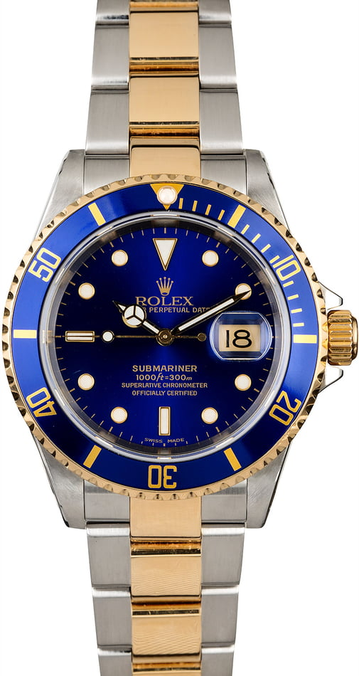 Rolex Submariner 16613 Blue Dial with Oyster Bracelet