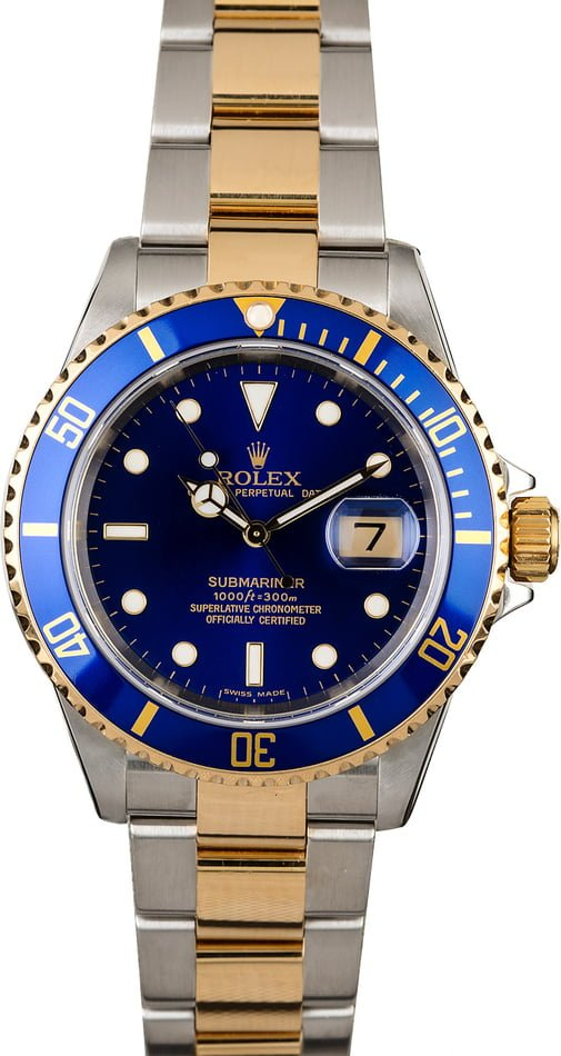 Certified Rolex Blue Dial Submariner 16613