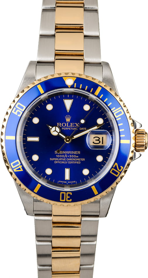 Rolex Submariner 16613 Oyster Band with Gold-Thru Clasp