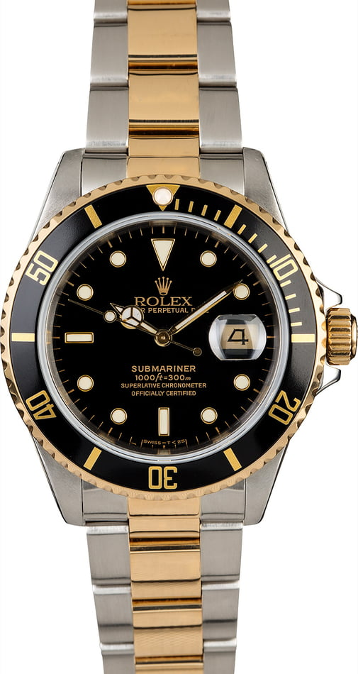 Used Rolex Submariner 16613 Oyster Perpetual