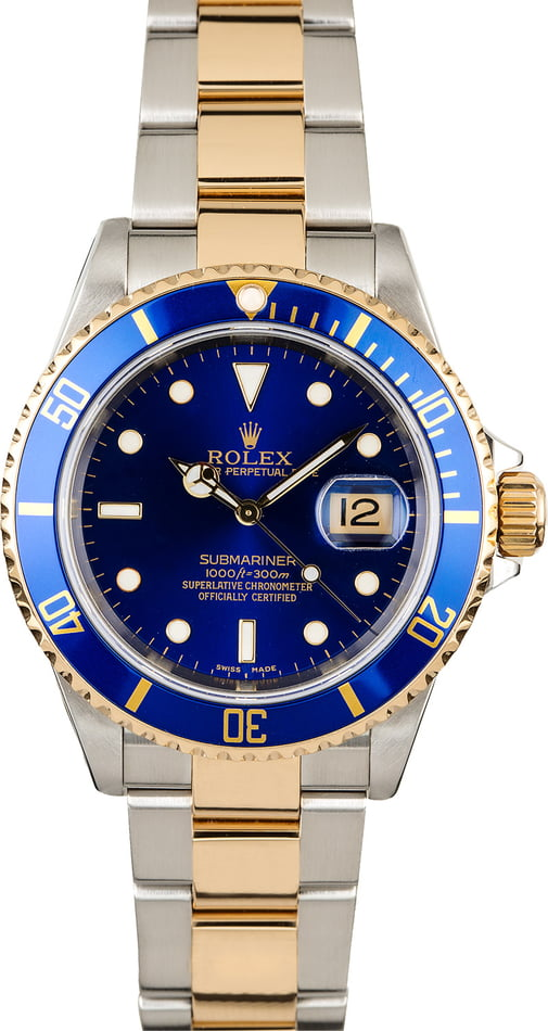Rolex Submariner 16613 Blue Luminous Dial
