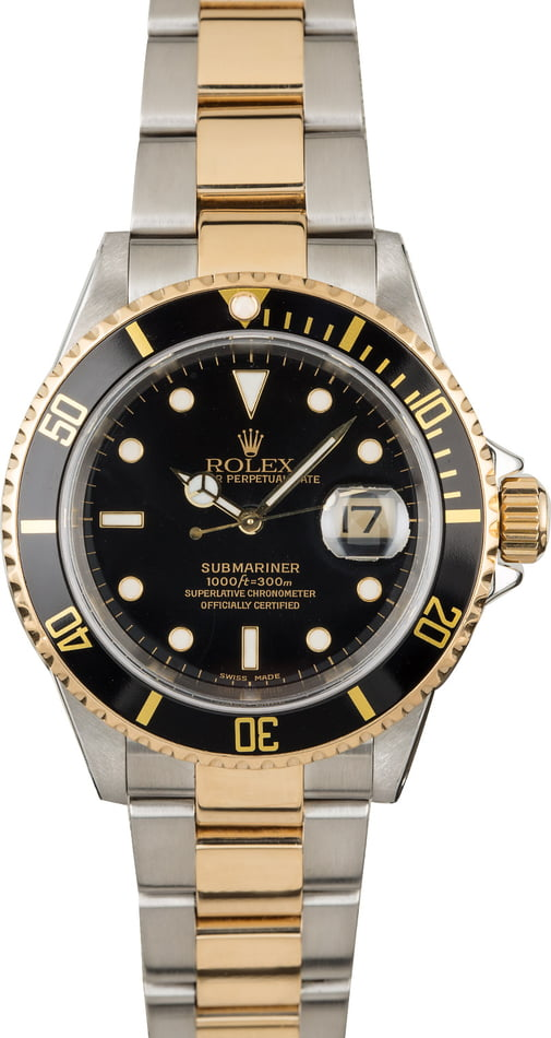 Men's Rolex Submariner 16613 Two Tone Watch
