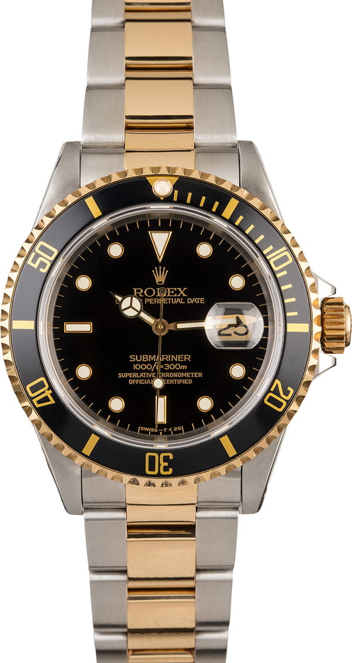 Rolex Submariner 16613 Black Luminous Dial