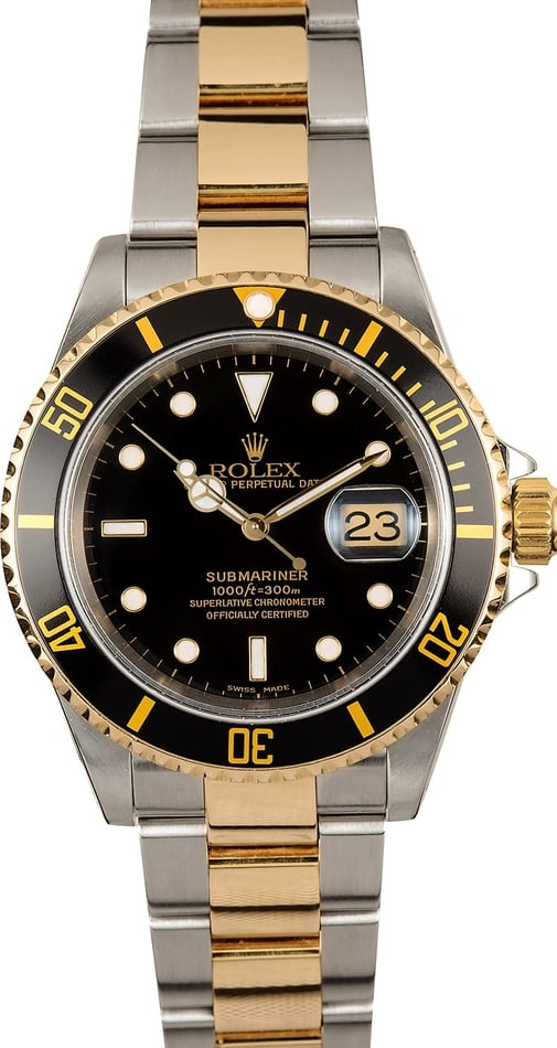 Rolex Submariner 16613 100% Authentic Black
