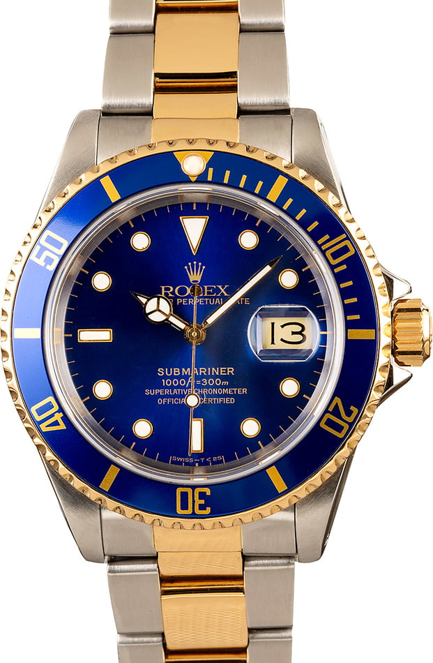 Rolex Submariner 16613 Blue Men's Watch