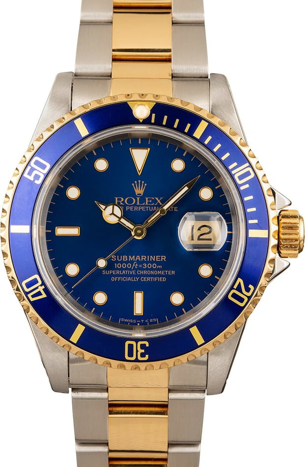 Rolex Submariner 16613 Blue Dial & Bezel