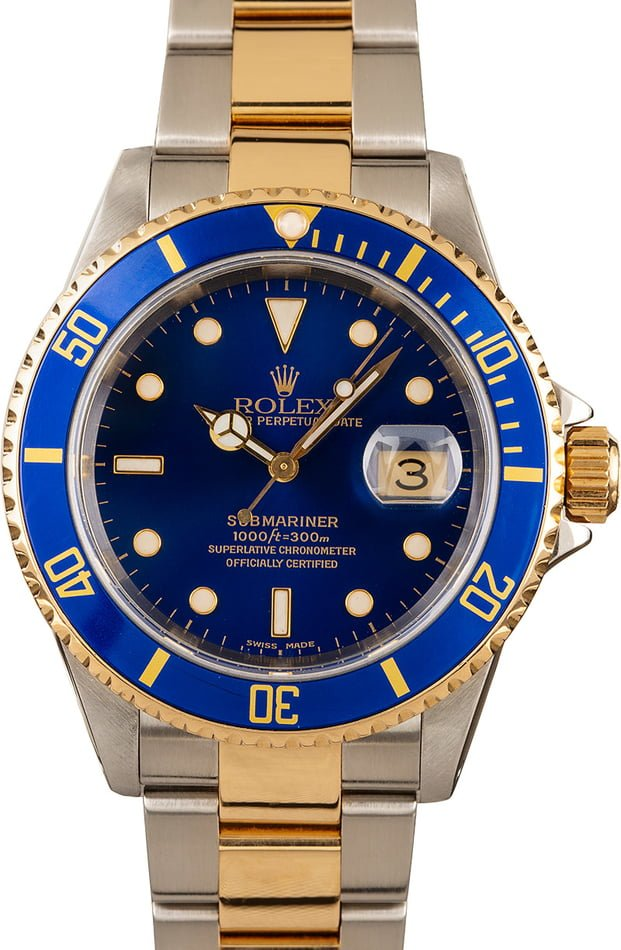Rolex Submariner 16613 Blue Dial Pre Owned