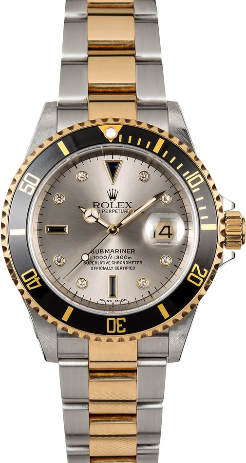 Rolex Submariner 16613 Black Serti