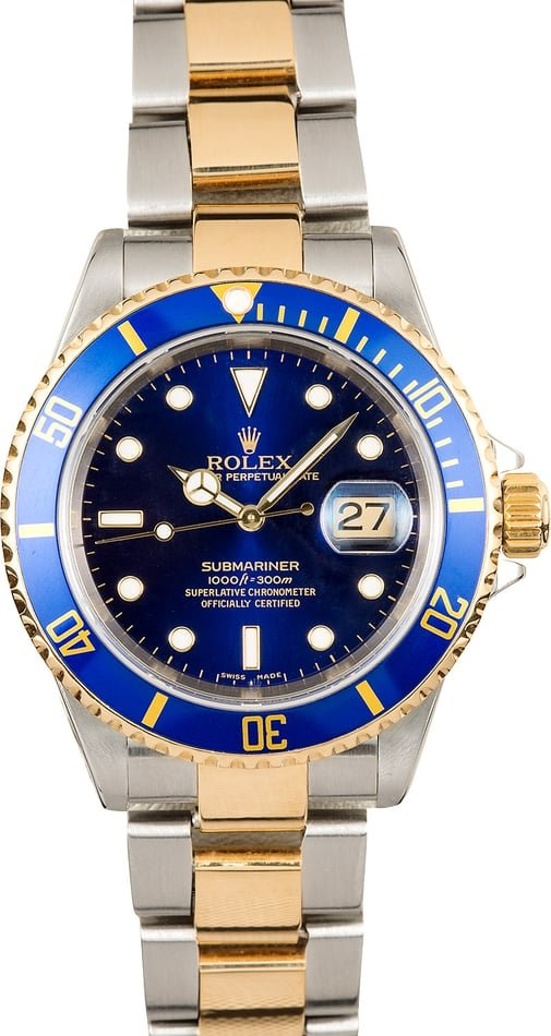 Rolex Submariner 16613 Blue Bezel