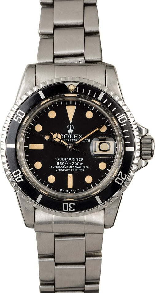 Vintage 1972 Rolex Red Submariner 1680