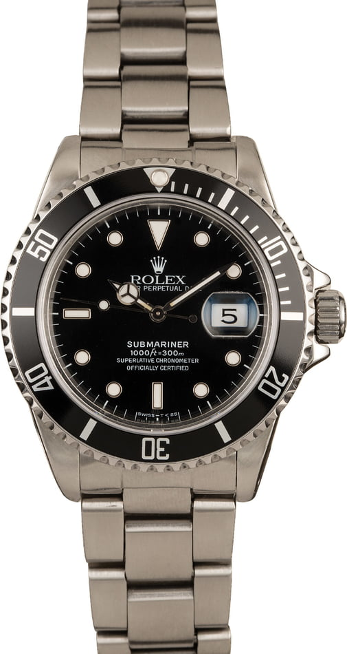 Pre-Owned 40MM Rolex Submariner 16800