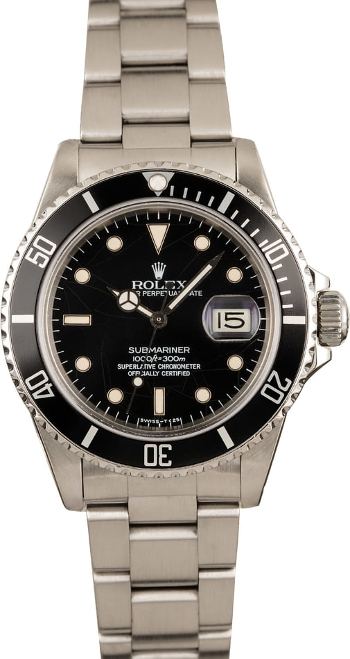 Rolex Submariner 16800 Black Dial Watch