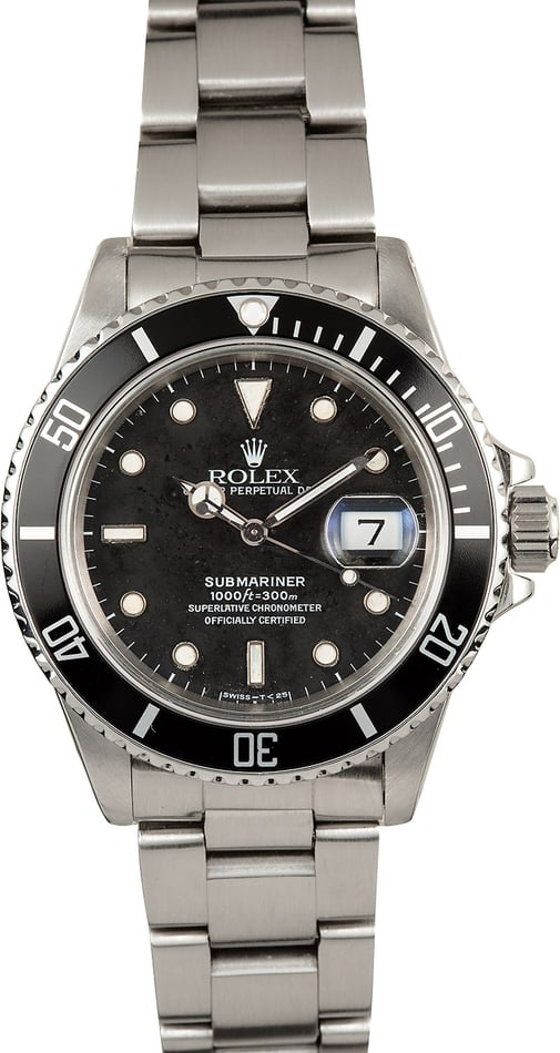 Used Rolex Submariner 168000 Stainless Steel
