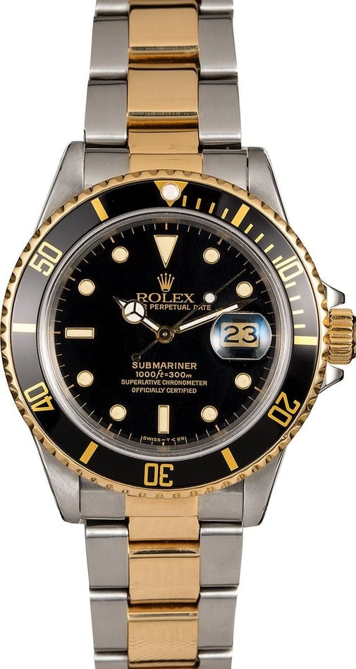 Men's Rolex Submariner 16803 Two-Tone Oyster