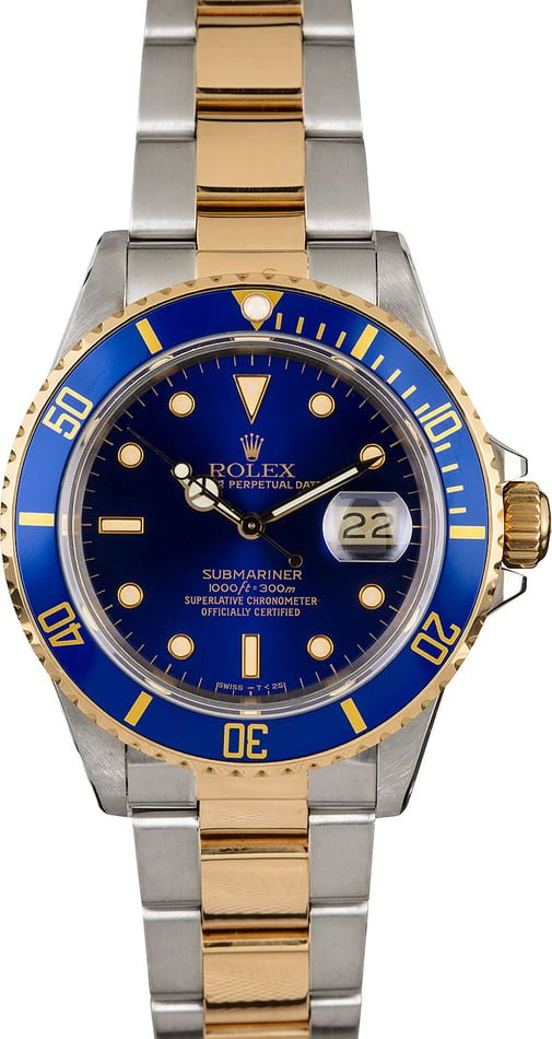 Rolex Submariner 16803 Blue Dial Watch