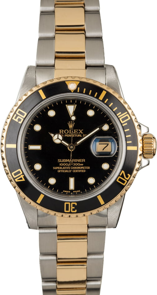 Rolex Submariner 16803 Black Luminous Dial