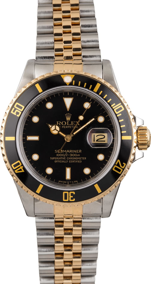 Pre Owned Rolex Submariner 16803 Two Tone Jubilee