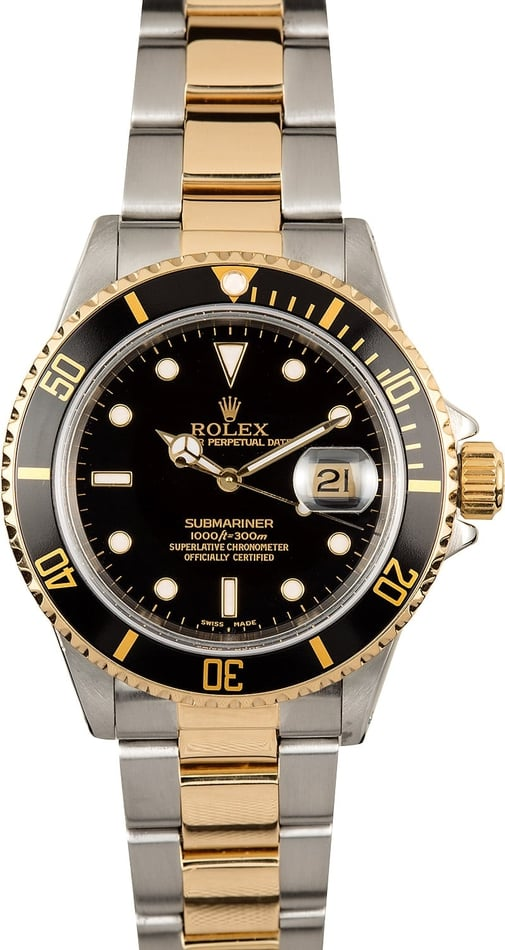 Rolex Submariner 16803 Black 100% Authentic