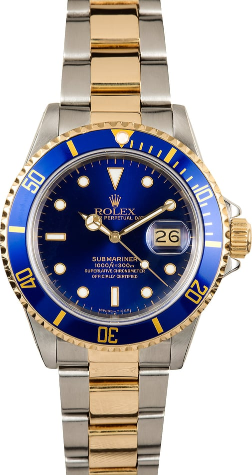 Rolex Submariner 16803 Blue 100% Authentic