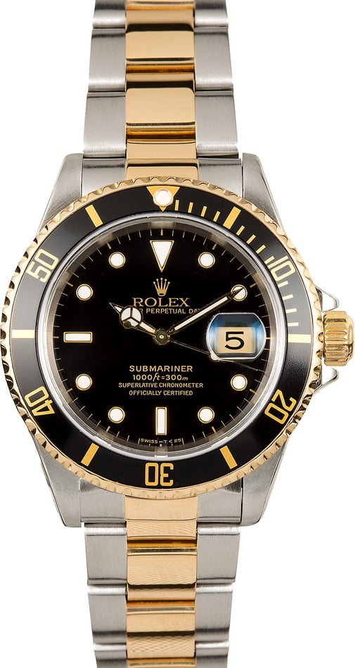 Rolex Submariner Black Bezel 16613 100% Authentic