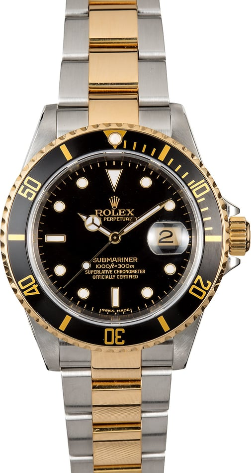 Rolex Submariner Black Two-Tone 16613T