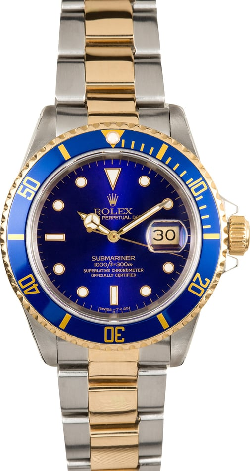 Rolex Submariner Blue Dial 16613 Certified Pre-Owned