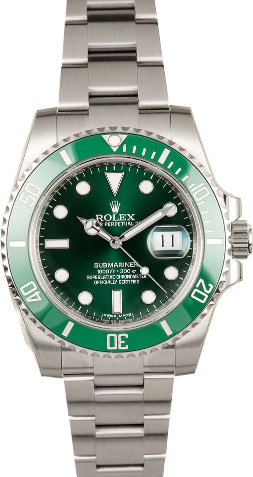 Rolex Submariner Green 116610V Hulk - Factory Stickers