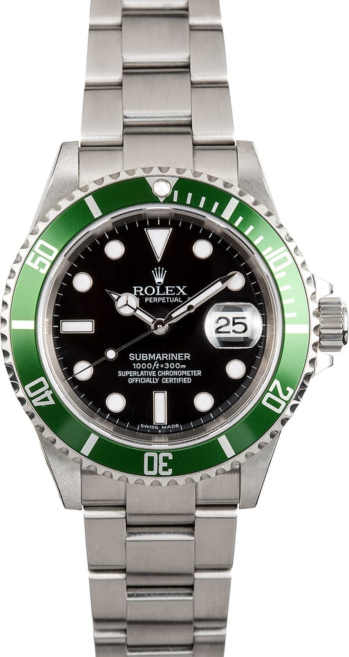 Rolex Submariner Green Anniversary 16610