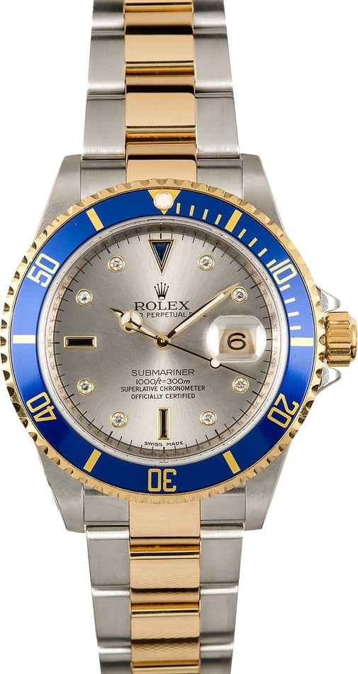 Rolex Submariner Serti 16613 Serial Engraved