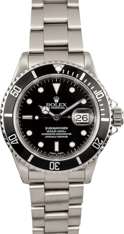 Rolex Submariner Steel 16610 Black