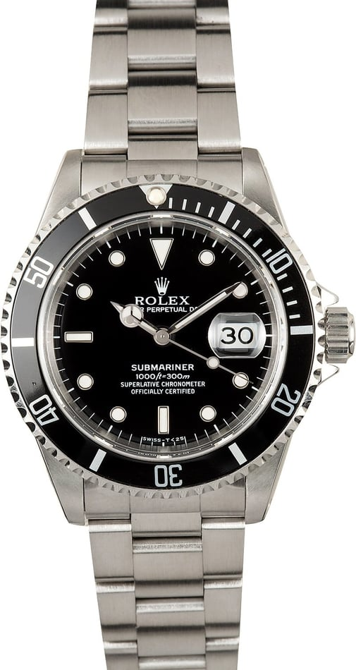 Rolex Submariner Watch 16610 Steel