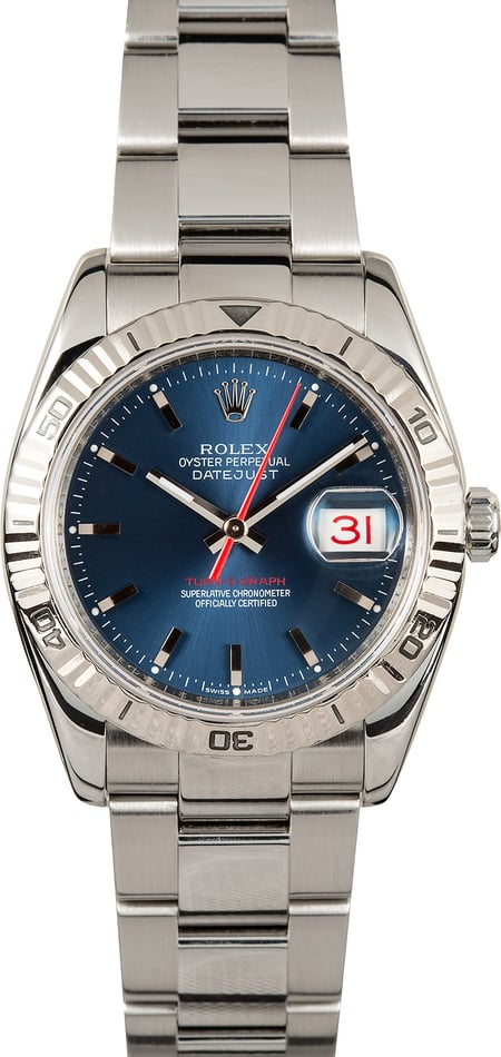 Rolex Datejust 116264 Engraved Serial, Thunderbird