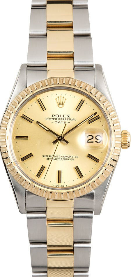 Rolex Two-Tone Date 15053 Oyster