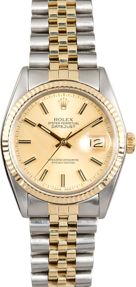 Rolex Two-Tone Datejust 16013 100% Authentic