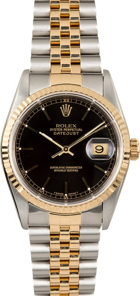 Rolex Two-Tone Datejust 16233 100% Authentic