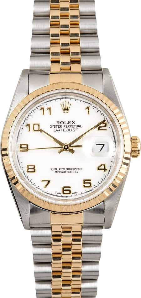 Rolex Two-Tone Datejust 16233 Arabic Dial