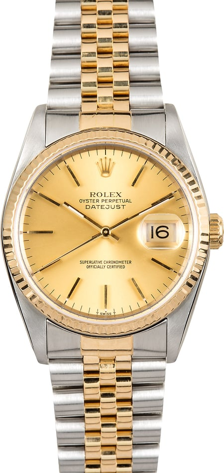 Rolex Two-Tone Datejust 16233 Champagne