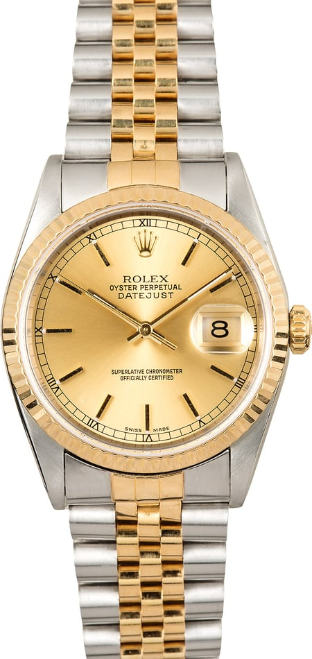 Rolex Two-Tone Datejust 16233 Pre-Owned