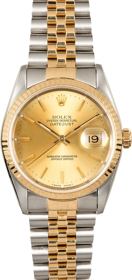 Rolex Two-Tone Datejust 16233 Pre-Owned Watch
