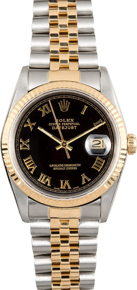 Rolex Two-Tone Datejust 16233 Roman Dial