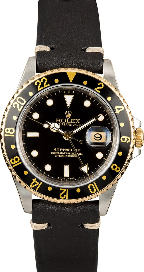 Rolex Two-Tone GMT Master II 16713 Black