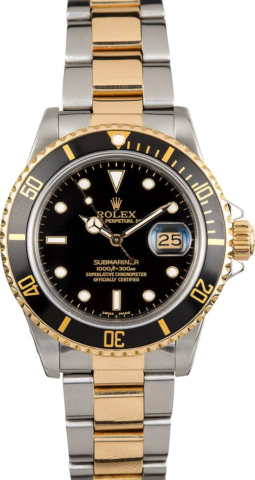 Rolex Two-Tone Oyster Submariner 16613